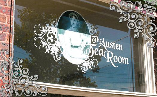 Austen TeaRoom signage