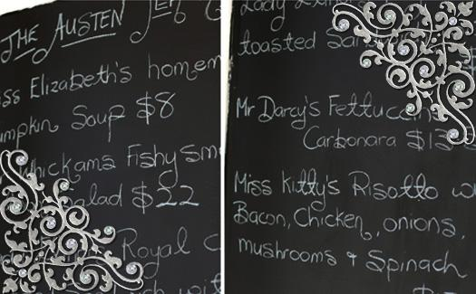 Dining menu